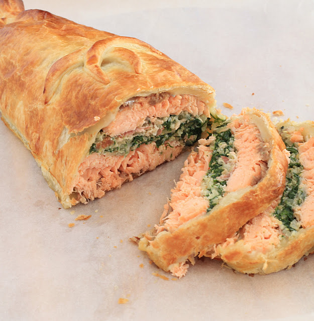 saumon wellington croute pate feuilletee recette anglaise