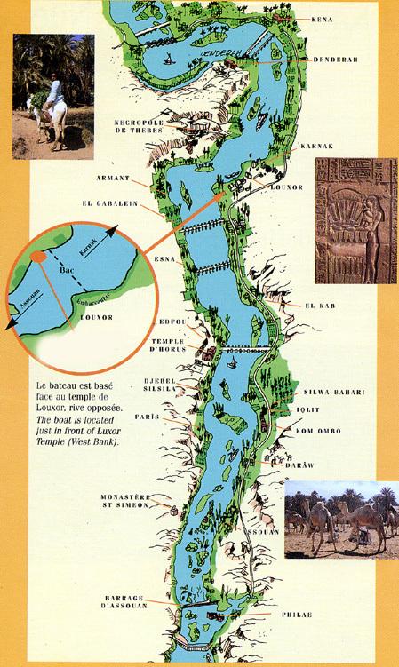 Egypte itinéraire