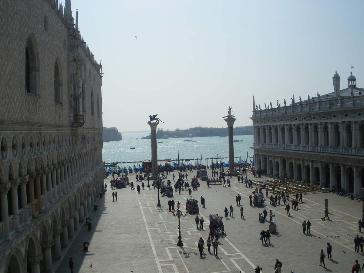 La Piazzetta San Marco et ses 2 hautes colonnes en granit de Marc et Théodore.