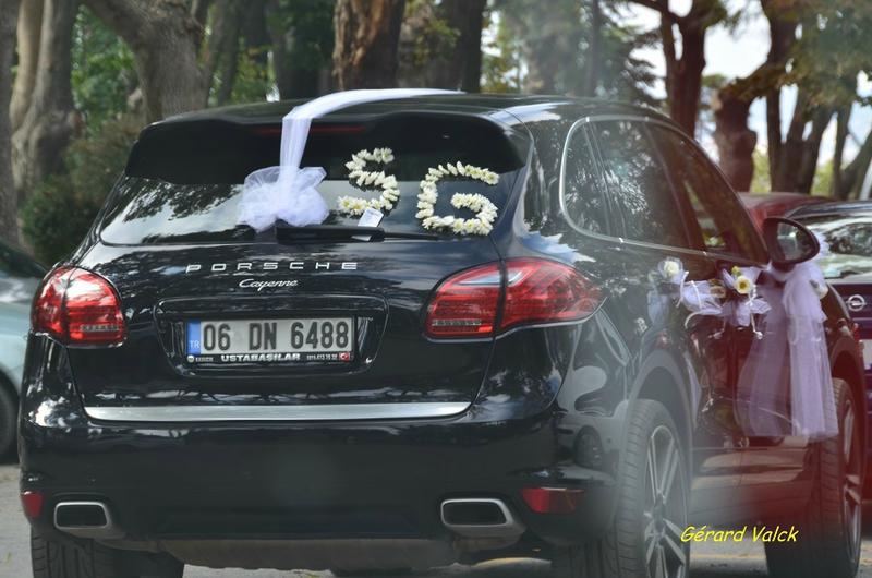 mariage istanbul voiture des mariés