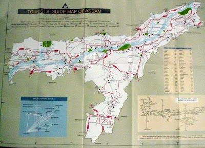 ASSAM carte touristique