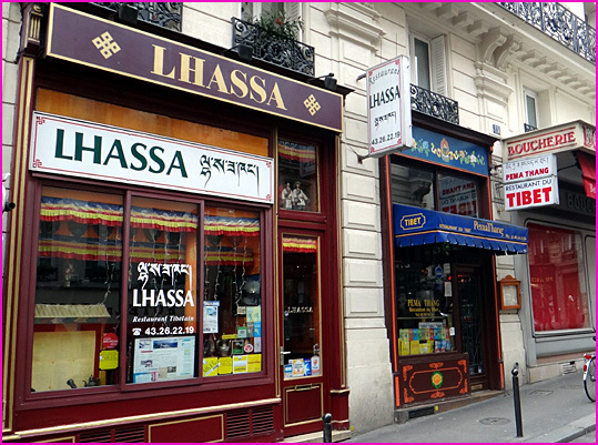 Paris restaurant tibetain lhassa rue montagne ste genevieve