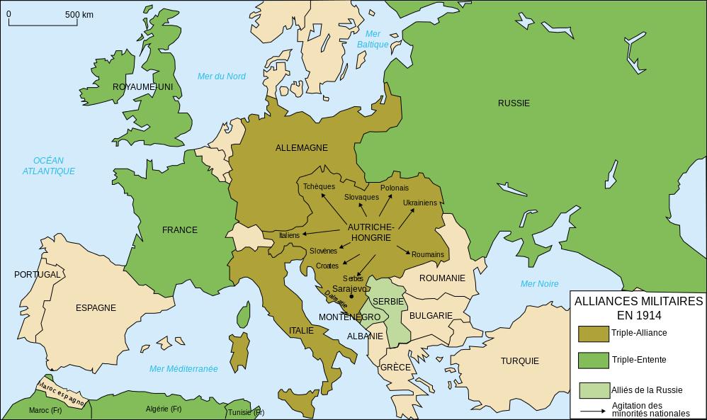 Attentat de Sarajevo du 28 Juin 1914 : vers la montée de la 1ère Guerre mondiale? 8