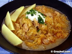 Goulash Sekeli au porc et à la choucroute Recette de cuisine croate