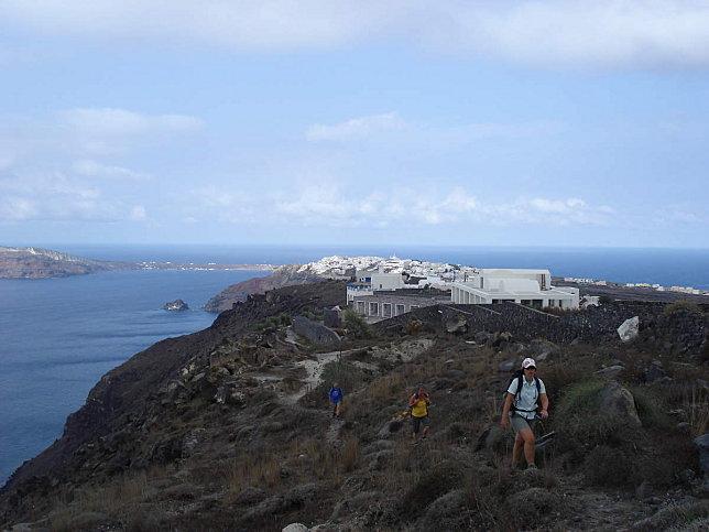 corniche fira cyclades grece
