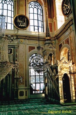 Intérieur de la mosquée d'Ortakoy
