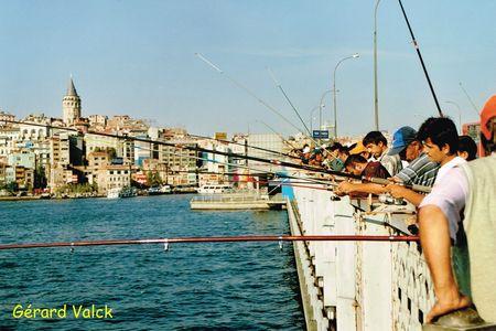 Pêche pont Galata istanbul