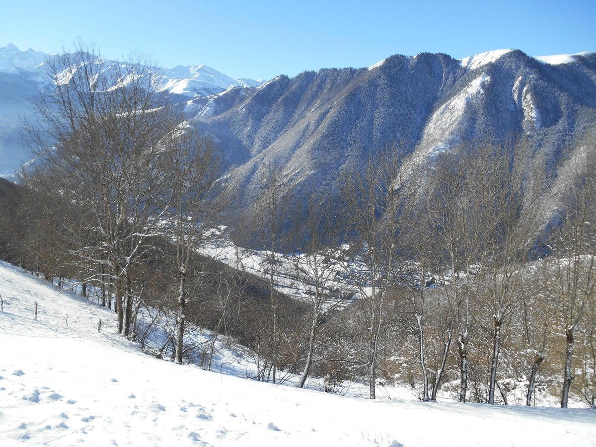 Bagnères de Luchon sous le neige.