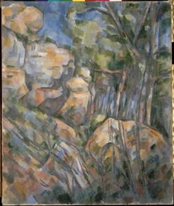 cézanne, rochers au dessus du chateau noir, Orsay