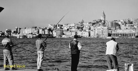Istanbul noir et blanc en 2000 tour galata