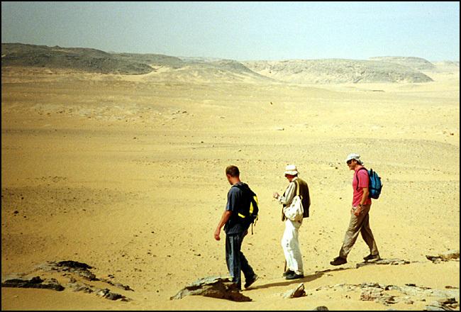 bord du désert egyptien
