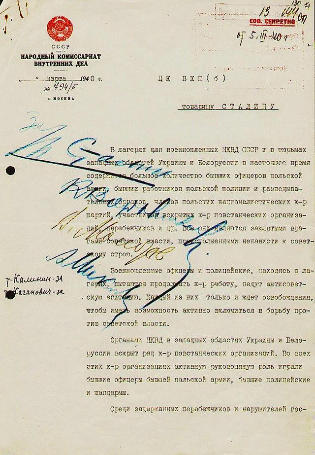Décision du massacre de Katyn
