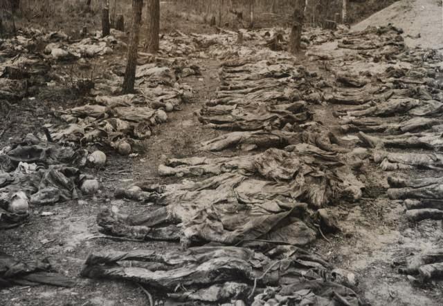 massacre de Katyn par les nazis en Pologne
