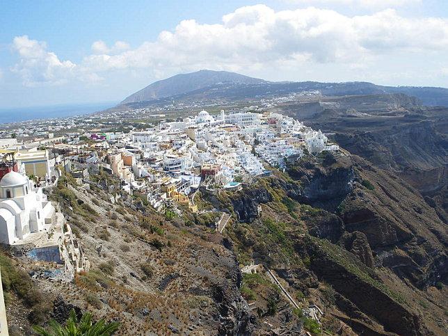 arrivée a fira cyclades grece