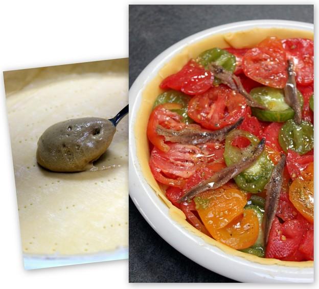 Tarte tomates anciennes et anchois ; légère et savoureuse en été (Recette provençale) 3