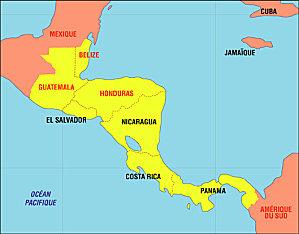 Carte Amerique Centrale