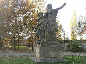 prague statue vysehrad libuse premyslid myslbek