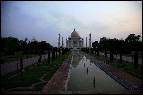 Lever du jour sur le Taj INDIA38