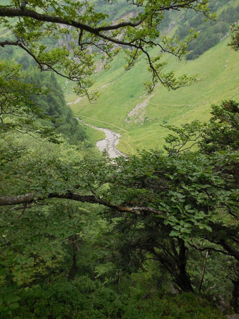 En bas, l'itinéraire que nous avons pris à l'aller.