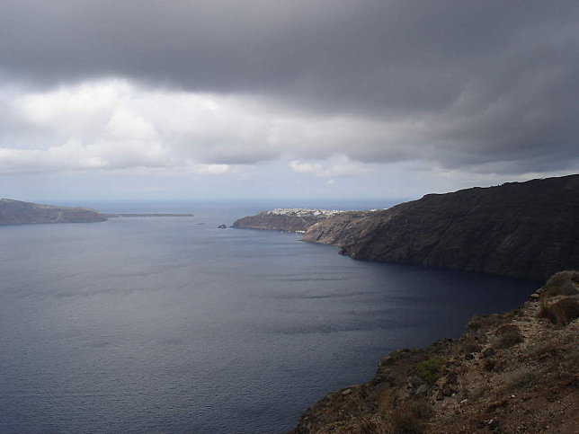 route fira cyclades grece