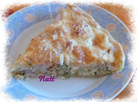 Quiche courgettes, thon et mozzarella (Cuisine méditerranéenne) 1