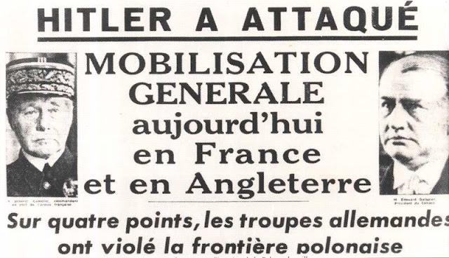 1er Septembre 1939 : début de la Seconde Guerre Mondiale 1