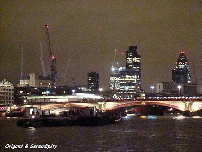Londres de nuit - Night in Southbank, promenade au bord de la Tamise 3