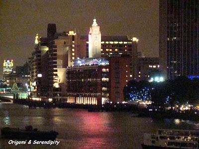 Londres de nuit - Night in Southbank, promenade au bord de la Tamise 4
