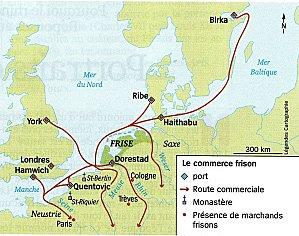 Le commerce en Europe du nord-ouest au haut Moyen Age