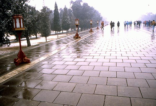 temple du ciel pont des marches vermillon