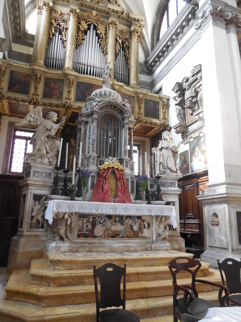"""Sous l'orgue, """"les Quatre Evangélistes"""" du Tintoret"""