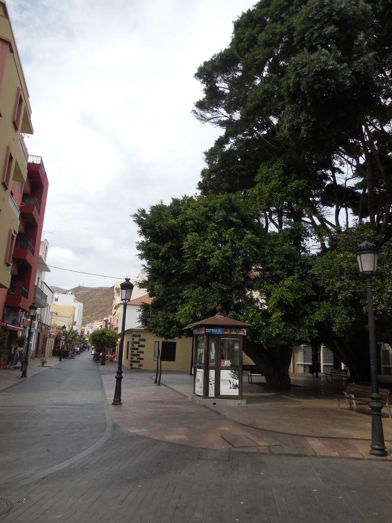 La rue de la Virgen de Guadalupe qui remonte jusqu'à l'église Nuestra Señora de la Asuncion.