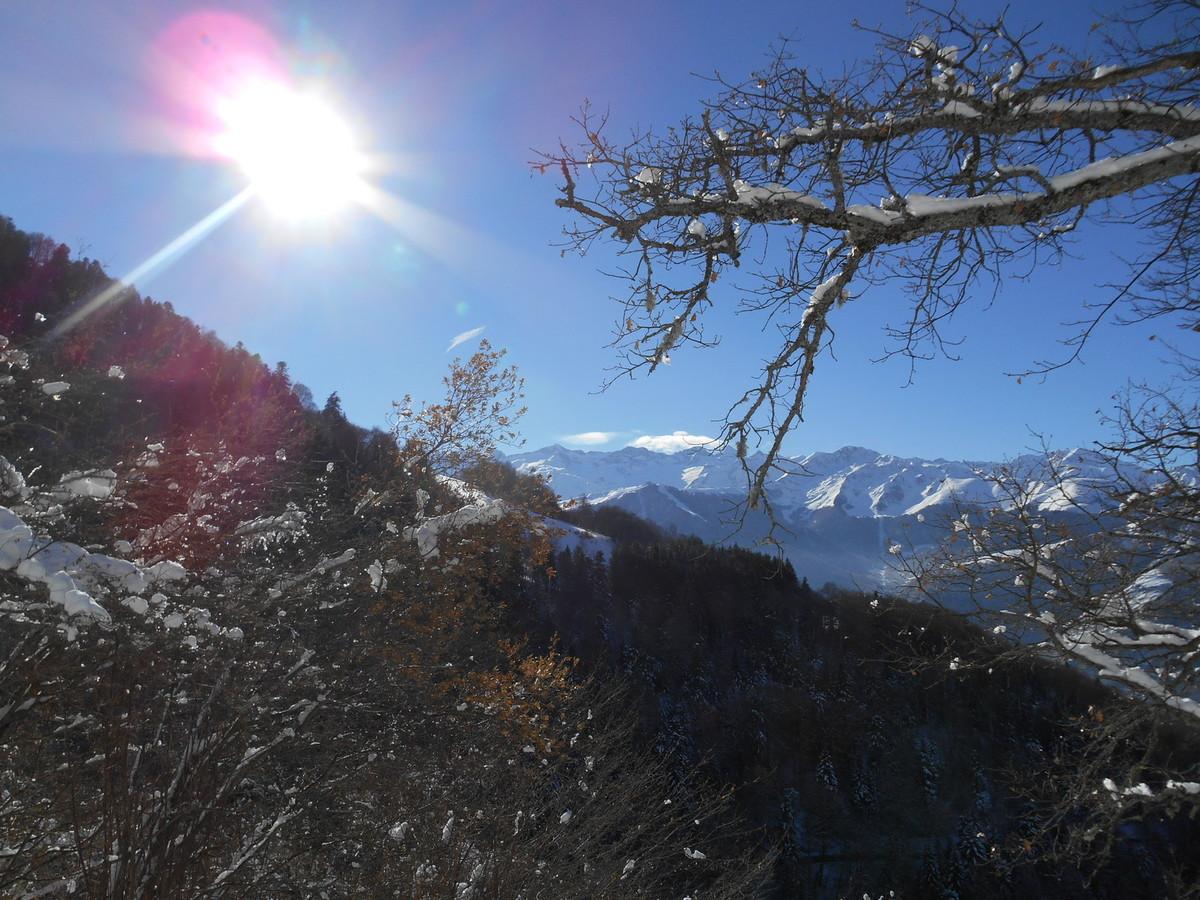 La vue est magnifique, pas le moindre nuage pour cacher les montagnes!