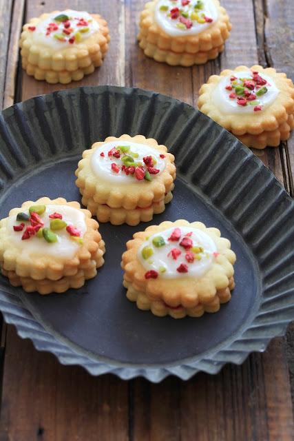 Hinbaersnitters ; recette danoise des petits gâteaux à la confiture de framboise 1