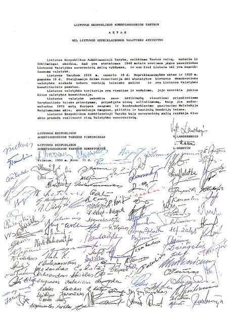 Histoire Lituanie : L'indépendance de la Lituanie, le 11 mars 1990 2