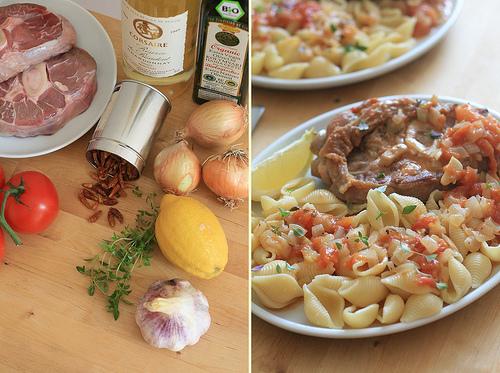 Cuisine italienne osso bucco la tomate au thym et aux for Cuisine a l italienne