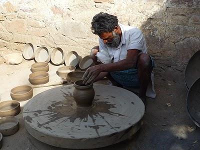Promenade dans les villages Bishnois autour de Jodhpur : Le potier 2
