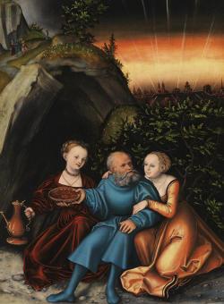 Lucas Cranach d. Ä. | Lot und seine Töchter, 1533 | © Bayerische Staatsgemäldesammlungen, Alte Pinakothek