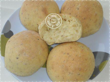 pain à la semoule et graines de sésame