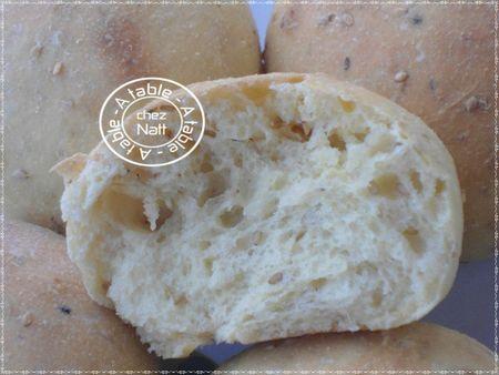 pain à la semoule et graines de sésame 2