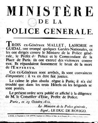 23 Octobre 1812 : la conspiration du Général Malet 1
