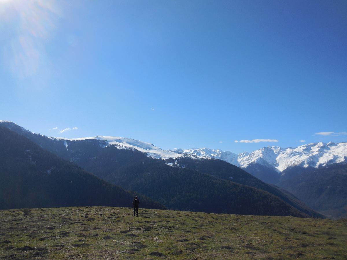 Petit arrêt sur ce vaste plateau: la vue est superbe...