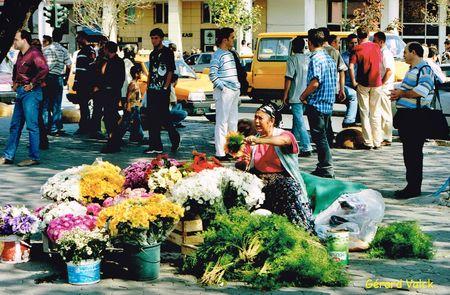 Marchande de fleurs à Kadikoy
