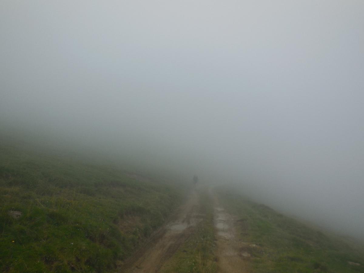 A 20 mètres: un fantome dans la brume!