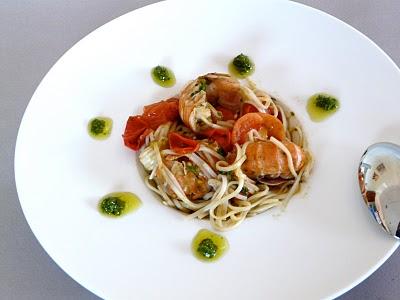Spaghetti pesto, langoustines et tomates cerise (Recette italienne) 1