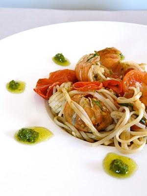 recette spaghetti pesto