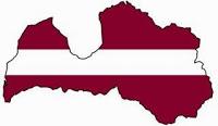 drapeau lettonie carte