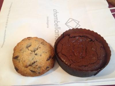 cookie et fondant chocolat paris boulangerie chambelland sans gluten