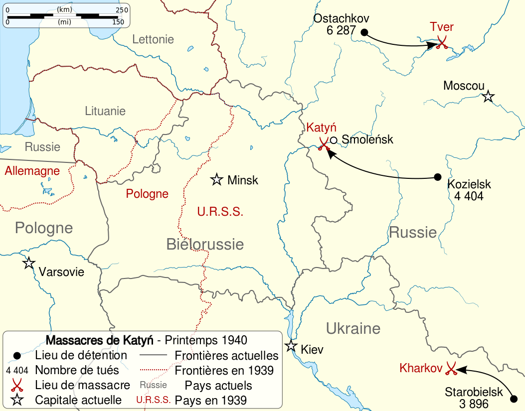 katyn massacre en 1940 en Pologne