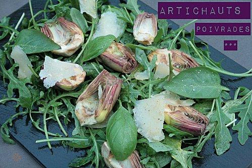 Salade d'Artichauts violets crus dit poivrades , -copie-1